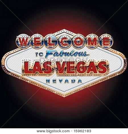 Diamanten und Gold reichsten Las Vegas Zeichen