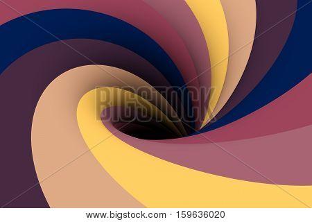 black hole the aubergine colour 3D illustration