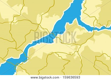 Vector Illustration of a map. Best for Geography, Travel concept.