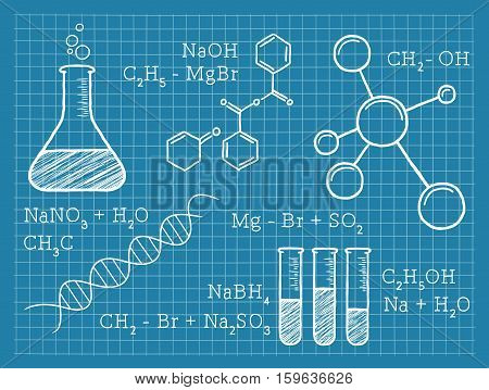 Vector Illustration of Chemistry Elements. Best for Science, Education Concept.