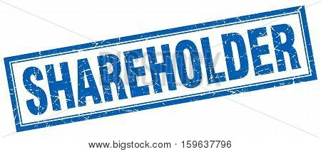 shareholder. square. stamp. grunge. vintage. sign. Isolated