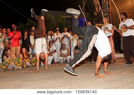 Capoeira dance and martial arts festival in Petrolina Brazil, 06. August 2016