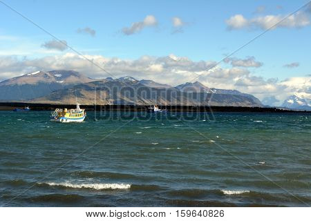 Ocean Bay near Puerto Natales in Chillle