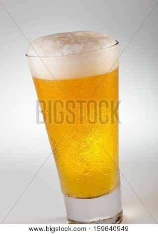 A cool glass of weizen wheat beer