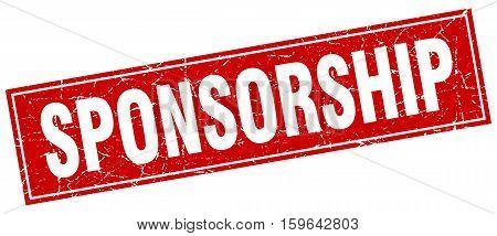 sponsorship. square. stamp. grunge. vintage. sign. Isolated
