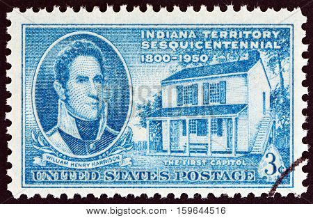 USA - CIRCA 1950: A stamp printed in USA from the