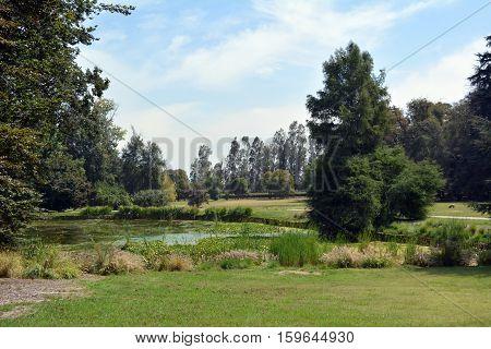 Winery Concha y Toro near Santiago. Nice park.