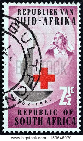 SOUTH AFRICA - CIRCA 1963: A stamp printed in South Africa from the