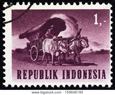 INDONESIA - CIRCA 1964: A stamp printed in Indonesia from the
