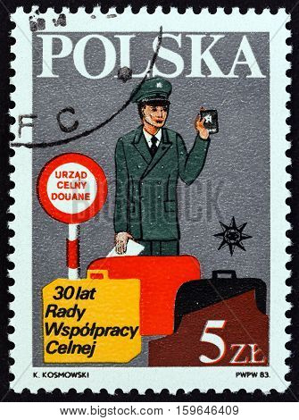 POLAND - CIRCA 1983: A stamp printed in Poland from the