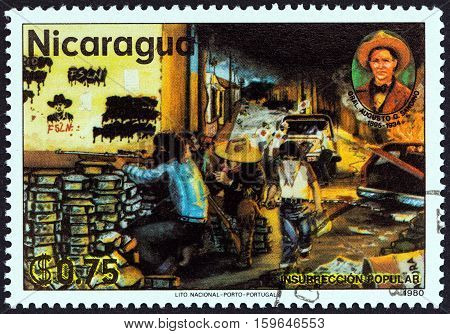 NICARAGUA - CIRCA 1980: A stamp printed in Nicaragua from the