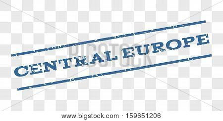 Central Europe watermark stamp. Text caption between parallel lines with grunge design style. Rubber seal stamp with dust texture.