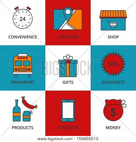 Stock Vector Linear icon Store. Stock vector