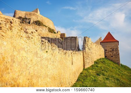 Rupea Castle Near Brasov, Medieval Fortress In Romania