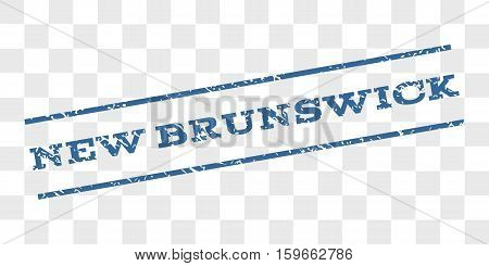 New Brunswick watermark stamp. Text caption between parallel lines with grunge design style. Rubber seal stamp with unclean texture.