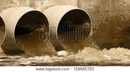 Web banner of toxic water in the environment