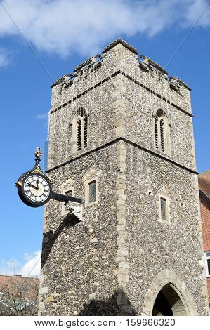 Norman Clock Tower in Canterbury Kent england