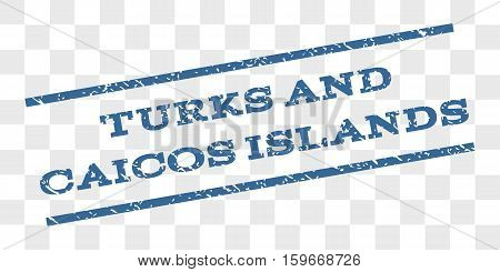 Turks and Caicos Islands watermark stamp. Text tag between parallel lines with grunge design style. Rubber seal stamp with dust texture.