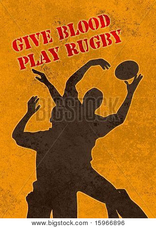 rugby player jumping catching ball in lineout