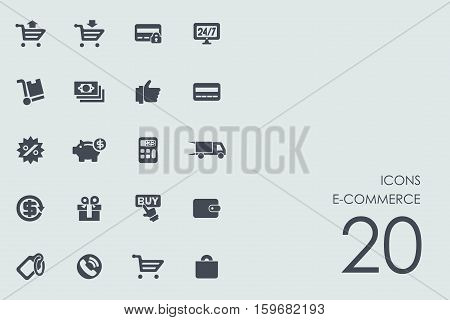 e-commerce vector set of modern simple icons