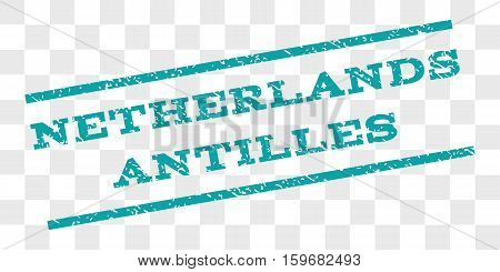 Netherlands Antilles watermark stamp. Text caption between parallel lines with grunge design style. Rubber seal stamp with dust texture.