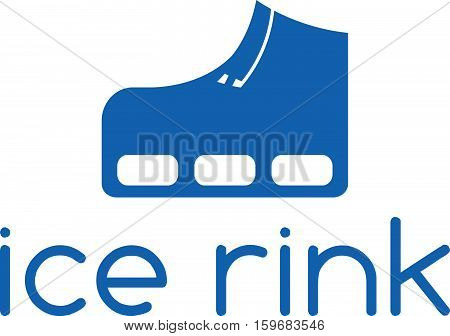 Vector Illustration Concept Of Skate And Hockey Stick