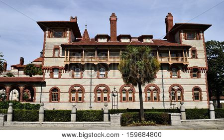 Historic Flagler College located at St. Augustine, Florida, USA.
