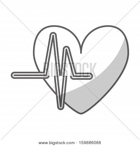 heart cartoon with cardiogram icon image vector illustration design