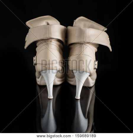 Female high heels shoes - Rear View