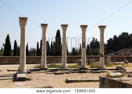 Asklepion - attraction on the island of Kos in Greece, where Hippocrates worked.