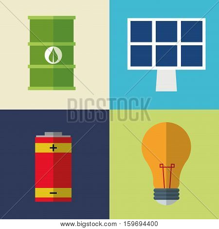 collection icons electrical energy vector illustration eps 10