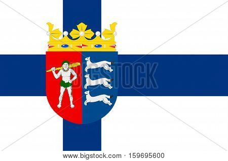 Flag Of Province of Lapland is a province of Finland