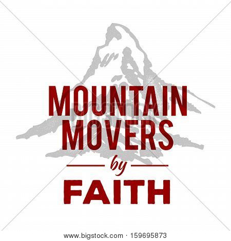 Mountain Movers by Faith Christian Emblem Faith Concept Logo Design Art