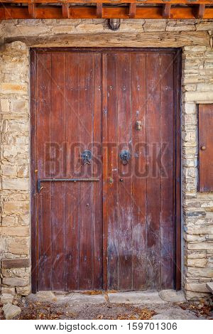 Close Up Of An Old Wooden Door.