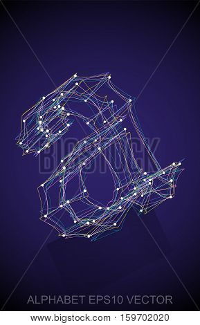Abstract illustration of a Multicolor sketched lowercase letter A with Reflection. Hand drawn 3D A for your design. EPS 10 vector illustration.