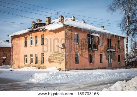 The house is in a provincial Russian town, built in the mid-twentieth century