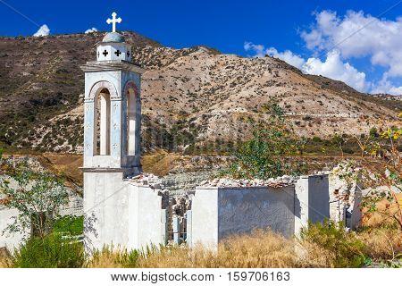 Alassa Church At The Kouris Reservoir. Cyprus.