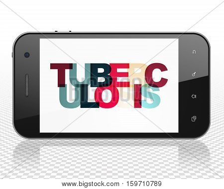 Medicine concept: Smartphone with Painted multicolor text Tuberculosis on display, 3D rendering