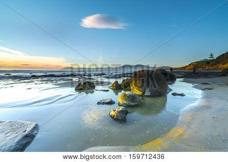 Sunrise over Otago Coastline, South Island, New Zealand