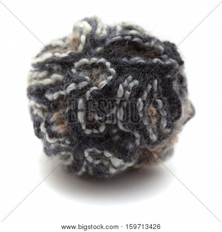 Knitted Pompom Of Variegated Yarn