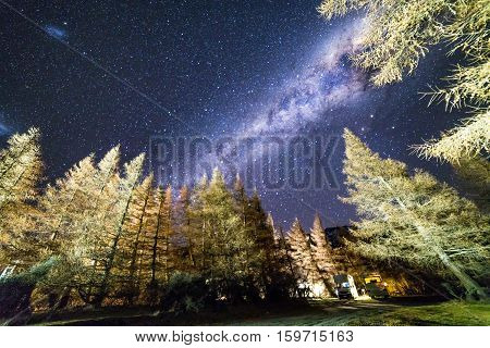 Milky way at Glentanner campsite, New Zealand