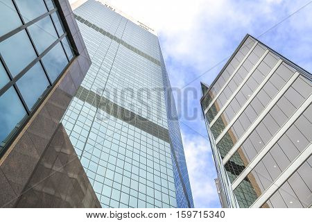 SYDNEY AUSTRALIA - AUGUST 26 2016: High commercial and residential building with modern design.