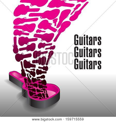 Never enough guitars is the theme of this graphic