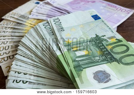 A lot of money - dirty banknotes