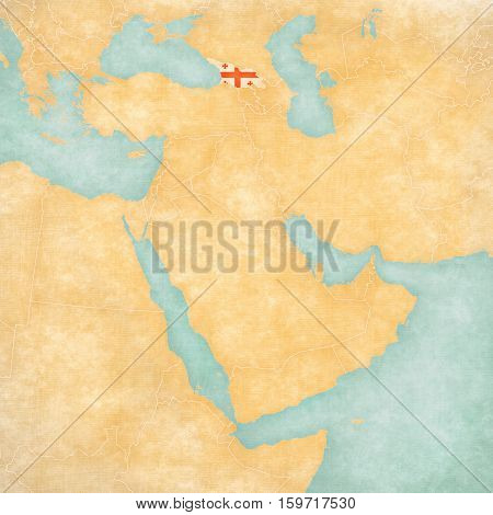 Map Of Middle East - Georgia