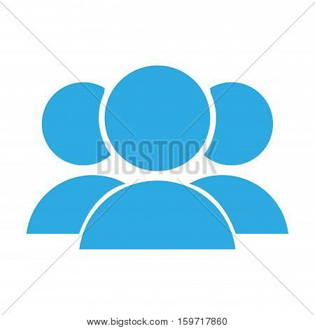 avatar people social users icon over white background. vector illustraion