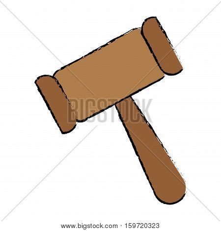 gavel justice icon image vector illustration design