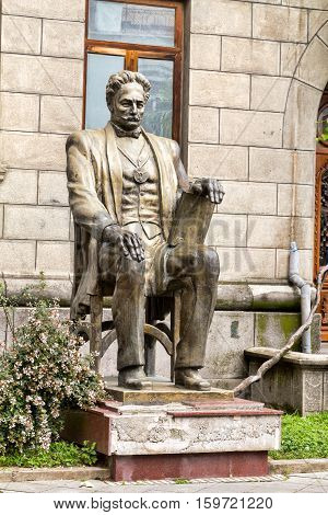 Batumi Georgia - July 11 2016: Monument to the Georgian politician and writer Memed Abashidze