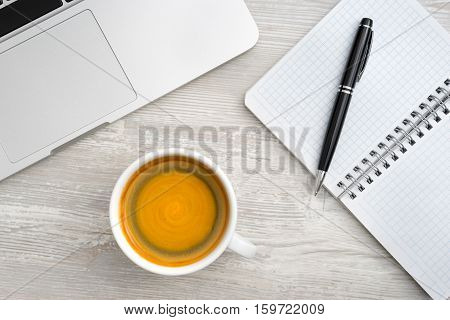 Table With A Cup Of Coffee