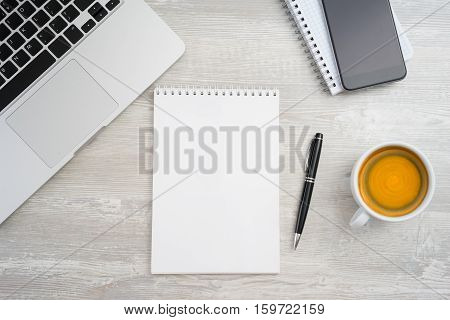 Blank Notebook Page For Input The Text